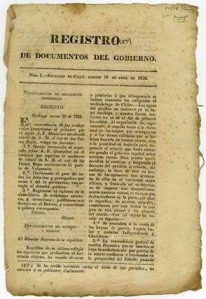 REGISTRO DE DOCUMENTOS DE GOBIERNO. NÚM. 1[-3,5,8] [caption title]. Chile