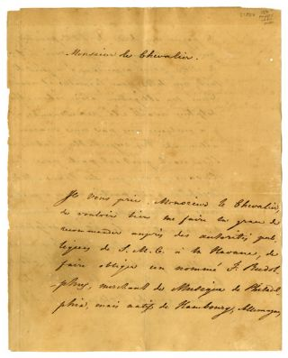 TWO LETTERS FROM THE CONSUL GENERAL OF SWEDEN AND NORWAY IN AMERICA]. Severin Lorich