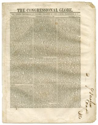 LARGE GROUP OF ISSUES OF THE CONGRESSIONAL GLOBE FOR THE 2nd SESSION OF THE 36th CONGRESS,...