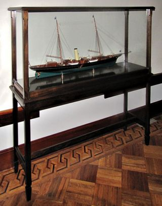 MODEL OF THE STEAM YACHT OWNED BY J. PIERPONT MORGAN, THE CORSAIR II]. J. Pierpont Morgan
