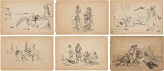 THIRTY-FIVE ORIGINAL SKETCHES BY CHARLES WELLINGTON REED, ARTIST AND MEDAL OF HONOR RECIPIENT]....