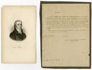 AUTOGRAPH LETTER, SIGNED, IN FRENCH, FROM CHARLES BOTTA TO HIS TRANSLATOR, BOSTON ATTORNEY GEORGE...