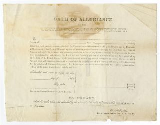 OATH OF ALLEGIANCE TO THE UNITED STATES GOVERNMENT [caption title]. Missouri, Civil War