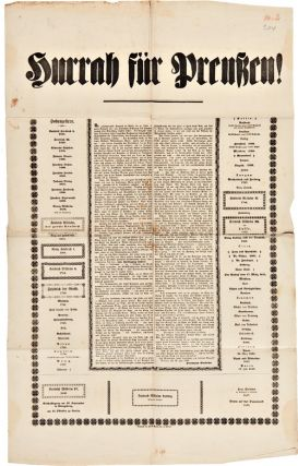 [GROUP OF NINE POLITICAL BROADSIDES RELATING TO THE 1848 REVOLUTIONS IN GERMANY].