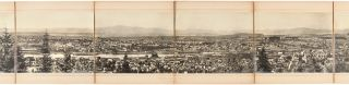 PORTLAND OREGON FROM THE HEIGHTS WEST OF THE CITY LOOKING EAST [caption title]. L. C. Henrichsen