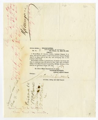 SPECIAL ORDERS, No. 71. HEADQUARTERS, DEPARTMENT OF LOUISIANA, NEW ORLEANS, LA., MARCH 28, 1866....