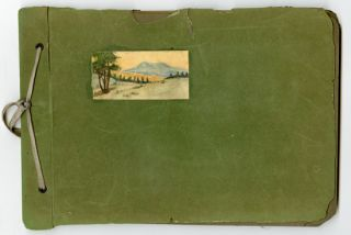[SKETCHBOOK WITH THIRTY-SIX WATERCOLORS OF WESTERN LANDSCAPES].