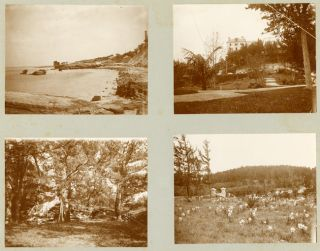 ALBUM CONTAINING FORTY-FOUR PHOTOGRAPHS OF LATE 19th CENTURY BERMUDA, COMPILED BY A NEW YORK...