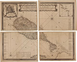 A NEW AND EXACT MAP OF THE ISLAND OF ST. CHRISTOPHER IN AMERICA, ACCORDING TO AN ACTUAL AND...