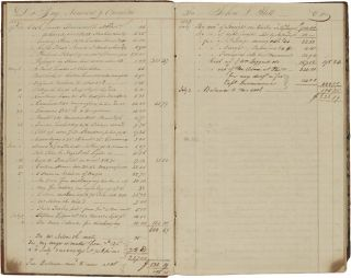 [ACCOUNT BOOK OF THE BRIGS NIMROD AND JASPER UNDER CAPTAIN JOHN HILL, 1826 - 1833].