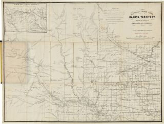 MAP OF THE CEDED PART OF DAKOTA TERRITORY. SHOWING ALSO PORTIONS OF MINNESOTA, IOWA & NEBRASKA....