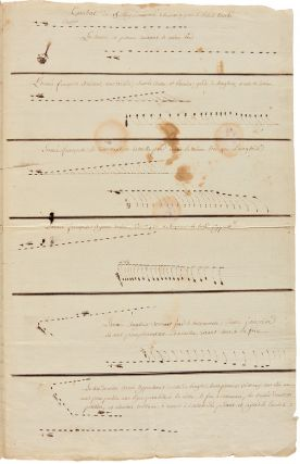 [TWO MANUSCRIPT CHARTS DEPICTING THE STAGES OF ANGLO-FRENCH NAVAL ENGAGEMENTS AROUND MARTINIQUE DURING THE AMERICAN REVOLUTION, ON APRIL 17 AND MAY 19, 1780, FROM THE PAPERS OF THE MARQUIS DE CHASTELLUX].