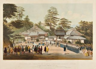 [SERIES OF SIX LITHOGRAPHS ILLUSTRATING THE OPENING OF JAPAN UNDER COMMODORE MATTHEW C. PERRY].