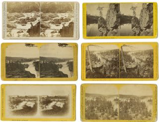 GROUP OF EIGHT STEREOVIEWS OF LATE 19th-CENTURY MINNESOTA]. Minnesota Photographica