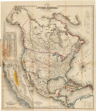 MAP OF NORTH AMERICA [caption title]. J. Calvin Smith