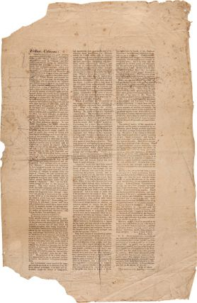 THREE RARE ILLINOIS BROADSIDES REGARDING THE BITTERLY-CONTESTED 1834 CONGRESSIONAL ELECTION...