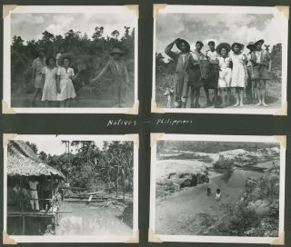 PHOTOGRAPH ALBUM CONTAINING OVER ONE HUNDRED THIRTY ORIGINAL IMAGES COMPILED BY A MEMBER OF THE...