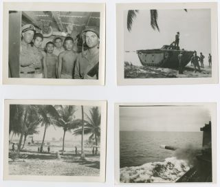 FASCINATING COLLECTION OF TWENTY ANNOTATED ORIGINAL PHOTOGRAPHS OF PACIFIC THEATER ACTIVITIES...