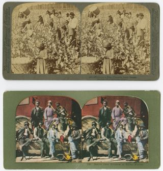 [TWO STEREOVIEWS FEATURING AFRICAN-AMERICAN SUBJECTS]. African American Photography.