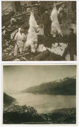 TWO LARGE, ATTRACTIVE ALASKAN IMAGES BY EARLY 20th-CENTURY PHOTOGRAPHERS CASE & DRAPER]. Alaska...