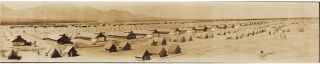 NORTH CAROLINA BRIGADE ON THE BORDER LOOKING NORTH FROM THE 3rd INFANTRY CAMP STEWART - EL PASO,...