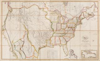 MAP OF THE UNITED STATES WITH THE CONTIGUOUS BRITISH AND SPANISH POSSESSIONS COMPILED FROM THE...