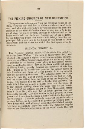 LIVINGSTON'S GUIDE BOOK TO ST. JOHN AND THE SAINT JOHN RIVER WITH AN ACCOUNT OF THE FISHING GROUNDS OF NEW BRUNSWICK.