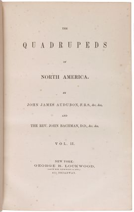 THE QUADRUPEDS OF NORTH AMERICA.