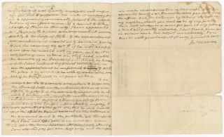 [AUTOGRAPH LETTER, SIGNED, FROM AMERICAN MINISTER TO FRANCE JAMES MONROE TO JOHN HENRY PURVIANCE, REGARDING MONROE'S NEW DUTIES AND HIS NEED FOR CONSULAR ASSISTANCE].