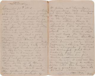 [TWO JOURNALS KEPT BY YEOMAN RALPH A. GOULD ABOARD THE USRS. INDEPENDENCE, THE USS PETREL, AND THE USS PRINCETON].