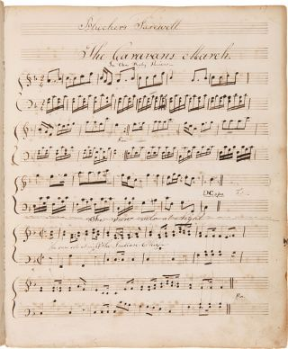 [BOUND COLLECTION OF MANUSCRIPT MUSIC TRANSCRIBED AND COMPOSED BY OLIVER SHAW AND HIS PUPIL JULIA HAZARD, INCLUDING AN EARLY VERSION OF THE STAR-SPANGLED BANNER AND MANY OTHER COMPOSITIONS ON AMERICAN POLITICAL AND HISTORICAL THEMES].