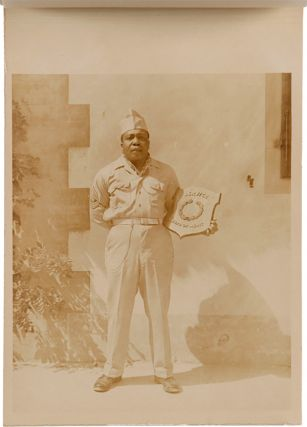 604th ORDNANCE AMMO. CO. NUGOLA, ITALY AUGUST 1945 [wrapper title]. African-American...