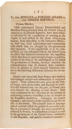 MESSAGE OF THE PRESIDENT...TO BOTH HOUSES OF CONGRESS. MAY 4th, 1798.