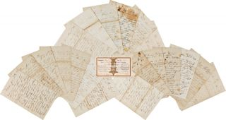COLLECTION OF TWENTY CIVIL WAR-DATE LETTERS FROM WILLIAM SHAW, A UNION SOLDIER FROM KENDALL, NEW...