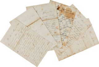 [COLLECTION OF TWENTY CIVIL WAR-DATE LETTERS FROM WILLIAM SHAW, A UNION SOLDIER FROM KENDALL, NEW YORK, DESCRIBING HIS DUTIES WHILE STATIONED AT FORT McHENRY IN MARYLAND, INJURIES SUFFERED IN BATTLE, AND ON THE CAMPAIGN AGAINST PETERSBURG.].