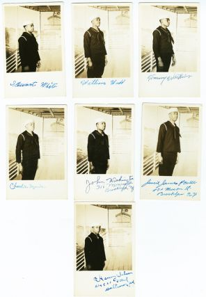 [COLLECTION OF THIRTEEN REAL PHOTO POSTCARDS SIGNED BY AFRICAN-AMERICAN MIDSHIPMEN DURING WORLD WAR II].