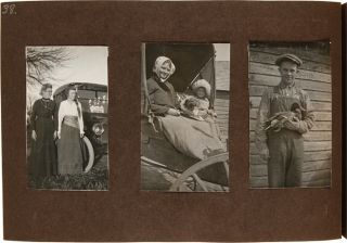 PAIR OF ALBUMS CONTAINING NEARLY 500 PHOTOGRAPHS OF FARM AND FAMILY LIFE IN NEBRASKA IN THE EARLY...