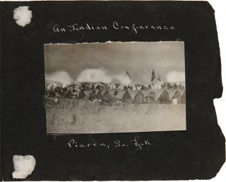 [ANNOTATED VERNACULAR PHOTOGRAPH ALBUM FEATURING A FARMING FAMILY IN SOUTH DAKOTA, WITH PICTURES OF IDENTIFIED NATIVE AMERICANS].