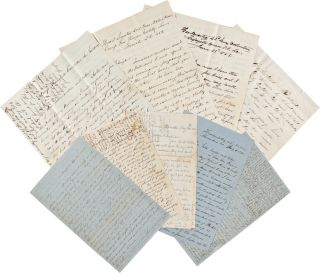 ARCHIVE OF AUTOGRAPH LETTERS, SIGNED, BY LT. COL. JOSEPH STEDMAN OF THE 6th AND 42nd REGIMENTS...