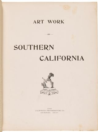 ART WORK ON SOUTHERN CALIFORNIA. California, Lou V. Chapin