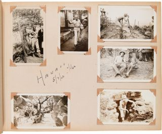 PHOTOGRAPH ALBUM OF UNITED STATES ARMY SSGT. HARVEY D. BURGSTRESSER IN THE SOUTH PACIFIC DURING...