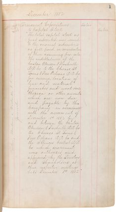 ACCOUNT LEDGER FOR THE CANTON, ABERDEEN & NASHVILLE RAILROAD, AND ITS SUCCESSOR, THE ILLINOIS...