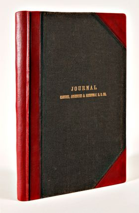 [ACCOUNT LEDGER FOR THE CANTON, ABERDEEN & NASHVILLE RAILROAD, AND ITS SUCCESSOR, THE ILLINOIS CENTRAL, SPANNING OVER SIXTY YEARS, FROM ITS INCEPTION IN THE 1880s UNTIL THE 1940s].