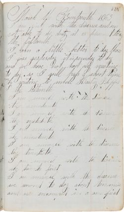 [MANUSCRIPT POCKET DIARY RECORDING THE CIVIL WAR BATTLE EXPERIENCES OF HORATIO E. LEACH, COMPANY D OF THE 114th NEW YORK STATE VOLUNTEERS IN LOUISIANA, INCLUDING DETAILED, FIRST-HAND REPORTS DURING THE ENTIRETY OF THE SIEGE OF PORT HUDSON].
