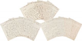 [AN IMPORTANT COLLECTION OF FORTY-SIX LETTERS SENT TO WILLIAM TUDOR, UNITED STATES CONSUL IN PERU, WRITTEN TO TUDOR BY COMMODORE ISAAC HULL, BRITISH NAVAL CAPTAIN THOMAS JAMES MALING, AND OTHERS IN PERU REGARDING THE NAVAL BLOCKADE OF CALLAO INSTIGATED BY SPAIN IN RESPONSE TO SIMÓN BOLÍVAR'S PERUVIAN REVOLUTION AND OTHER DIPLOMATIC MATTERS].