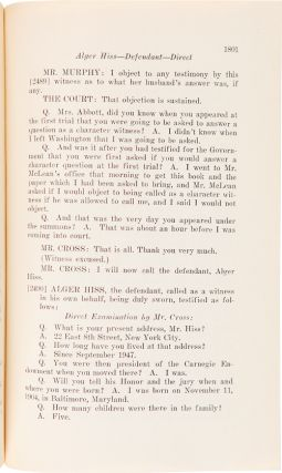 IN THE UNITED STATES COURT OF APPEALS FOR THE SECOND CIRCUIT UNITED STATES OF AMERICA, APPELLEE, AGAINST ALGER HISS, APPELLANT. TRANSCRIPT OF RECORD ON APPEAL FROM THE DISTRICT COUIRT OF THE UNITED STATES FOR THE SOUTHERN DISTRICT OF NEW YORK.