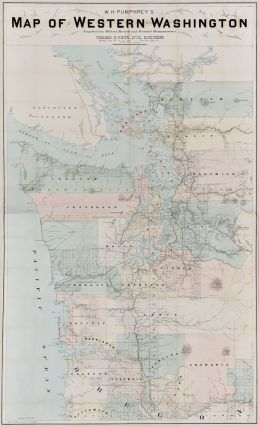 W.H. PUMPHREY'S MAP OF WESTERN WASHINGTON. F. M. Dehly, William Henry Pumphrey