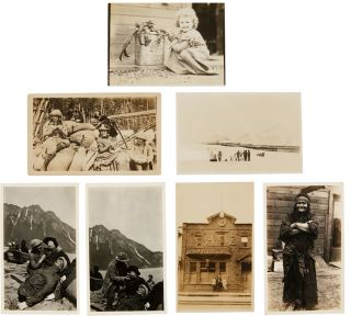[ARCHIVE OF EARLY FILM PHOTOGRAPHS RETAINED BY GUERNEY HAYS, A CINEMA SET AND LIGHTING SPECIALIST FROM OREGON, WITH MANY PHOTOGRAPHS FROM THE SET OF The Chechahcos, A 1924 AMERICAN SILENT FILM SET DURING THE KLONDIKE GOLD RUSH AND THE FIRST FILM SHOT IN ALASKA].
