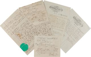 COLLECTION OF SIX DOCUMENTS RELATING TO A DIVORCE CASE IN THE DAKOTA TERRITORY, BETWEEN A HUSBAND...