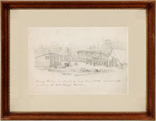 [TWO ORIGINAL, CONTEMPORARY CIVIL WAR DRAWINGS SUBMITTED TO Harper's Weekly, ACCOMPANIED BY AN AUTOGRAPHED LETTER, SIGNED, FROM CAPT. JAMES GILLETTE, TO HARPER'S EDITOR JOHN BONNER].